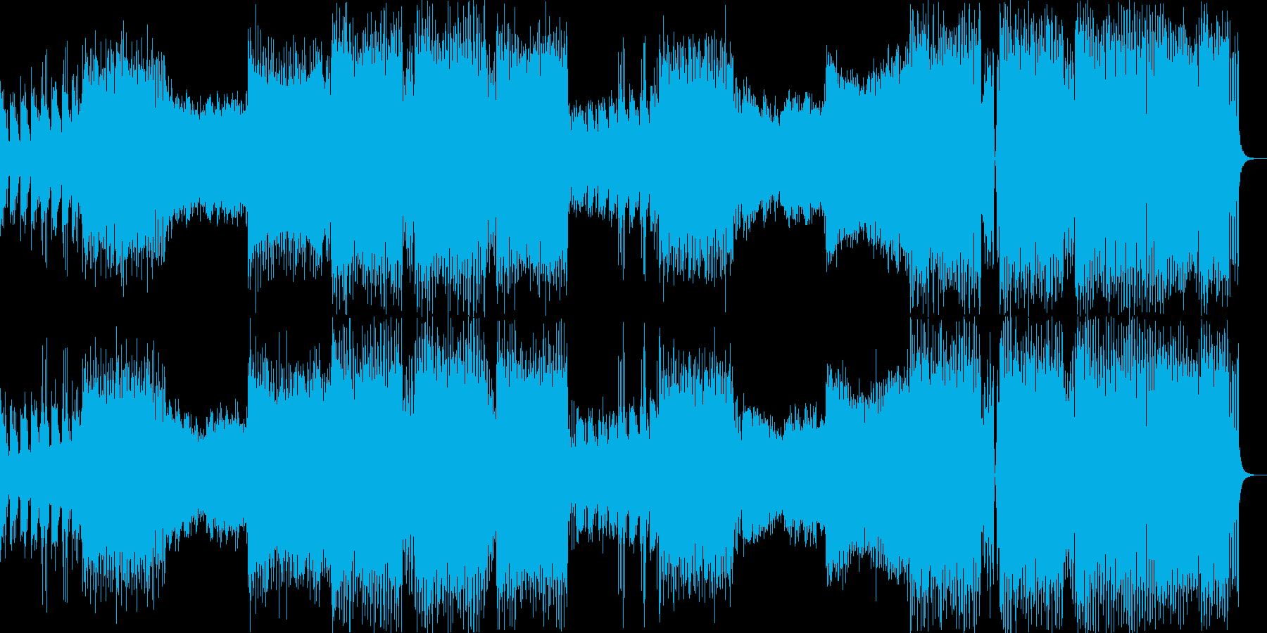 春とEDM、疾走感の四つ打ちダンス曲の再生済みの波形