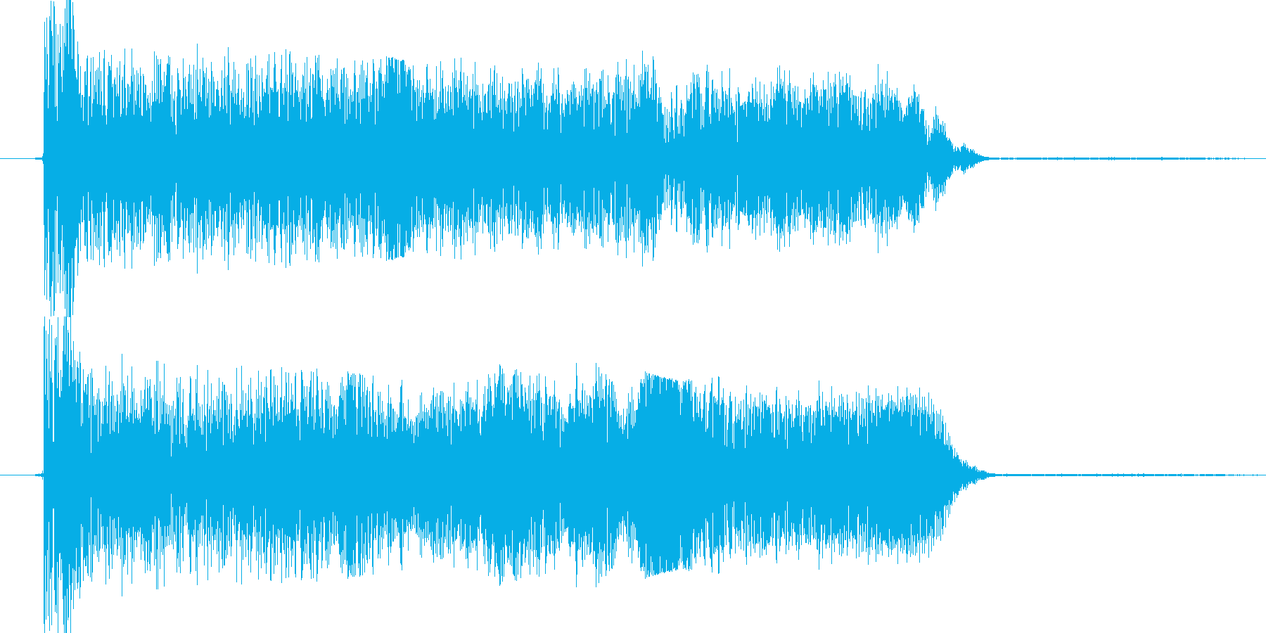 パカーとこう開くイメージですどっちかと…の再生済みの波形