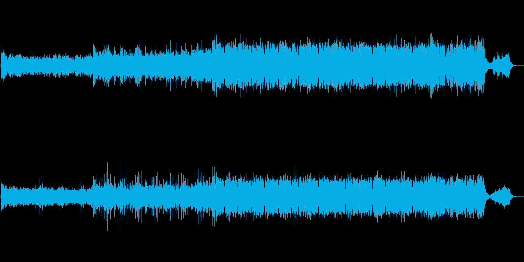 ブルガリアン・ヴォイスで神秘を表現した曲の再生済みの波形