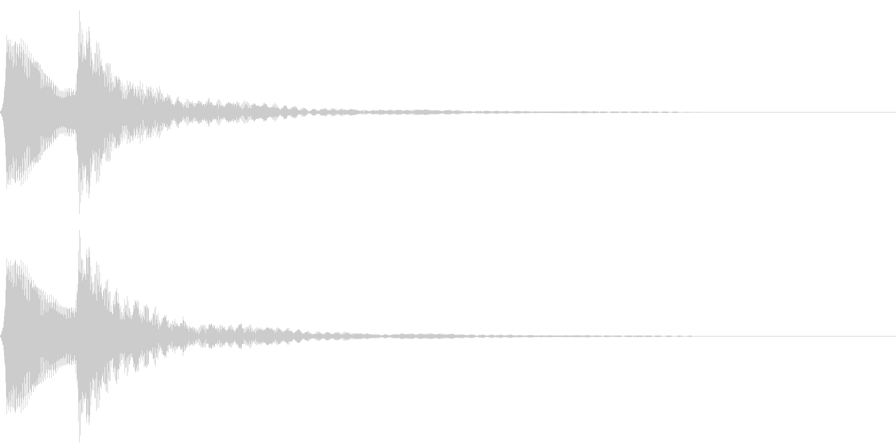 ピポン。クイズ回答・正解音(低)の未再生の波形