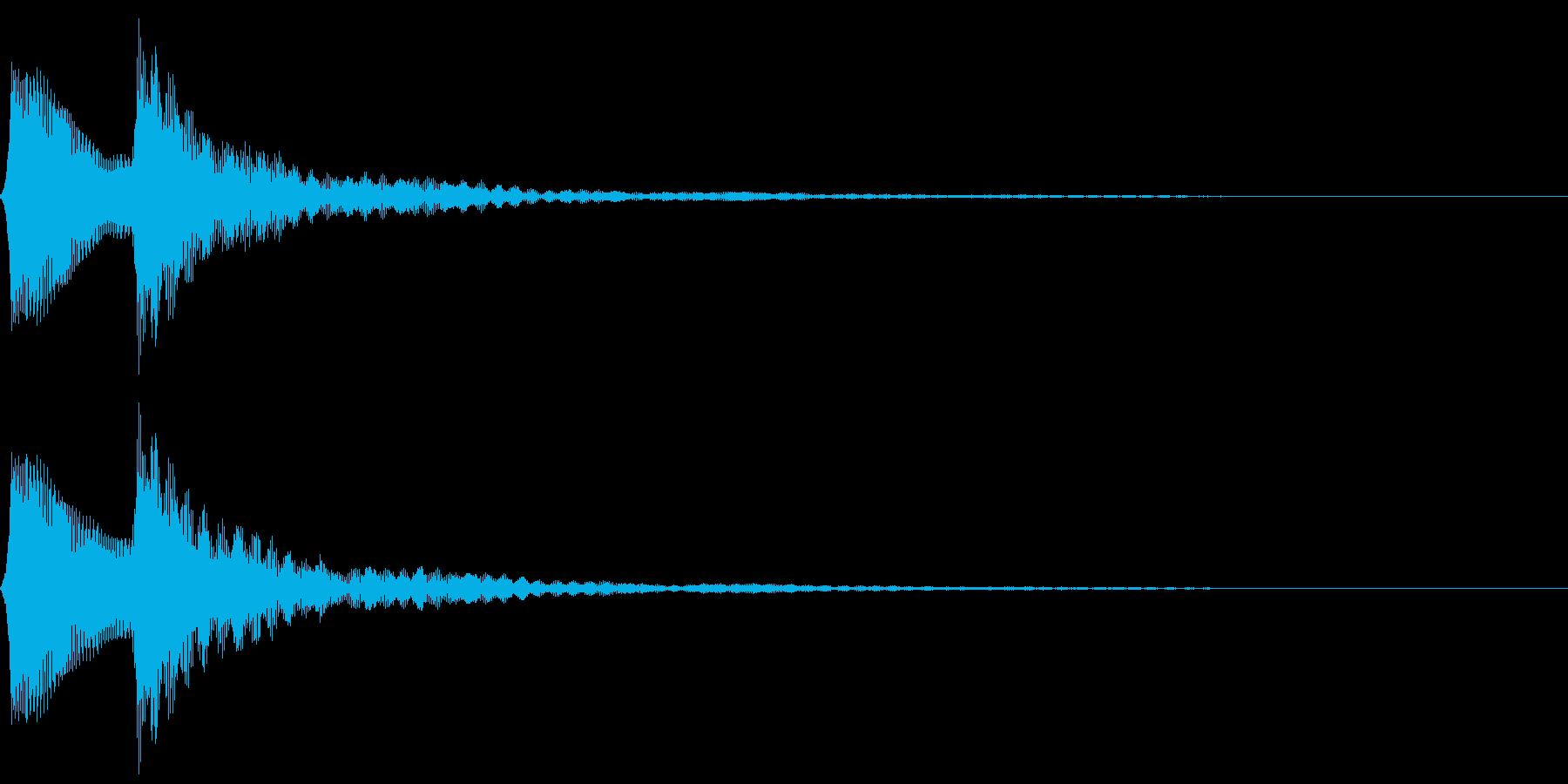 ピポン。クイズ回答・正解音(低)の再生済みの波形