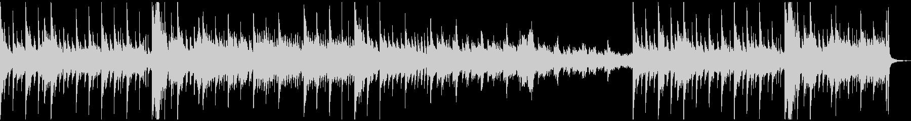 ダークなピアノ曲の未再生の波形