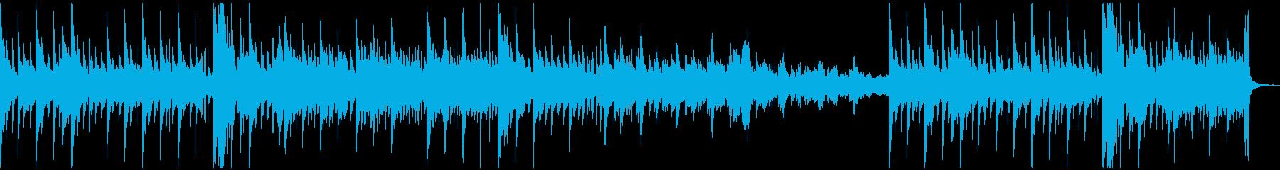ダークなピアノ曲の再生済みの波形