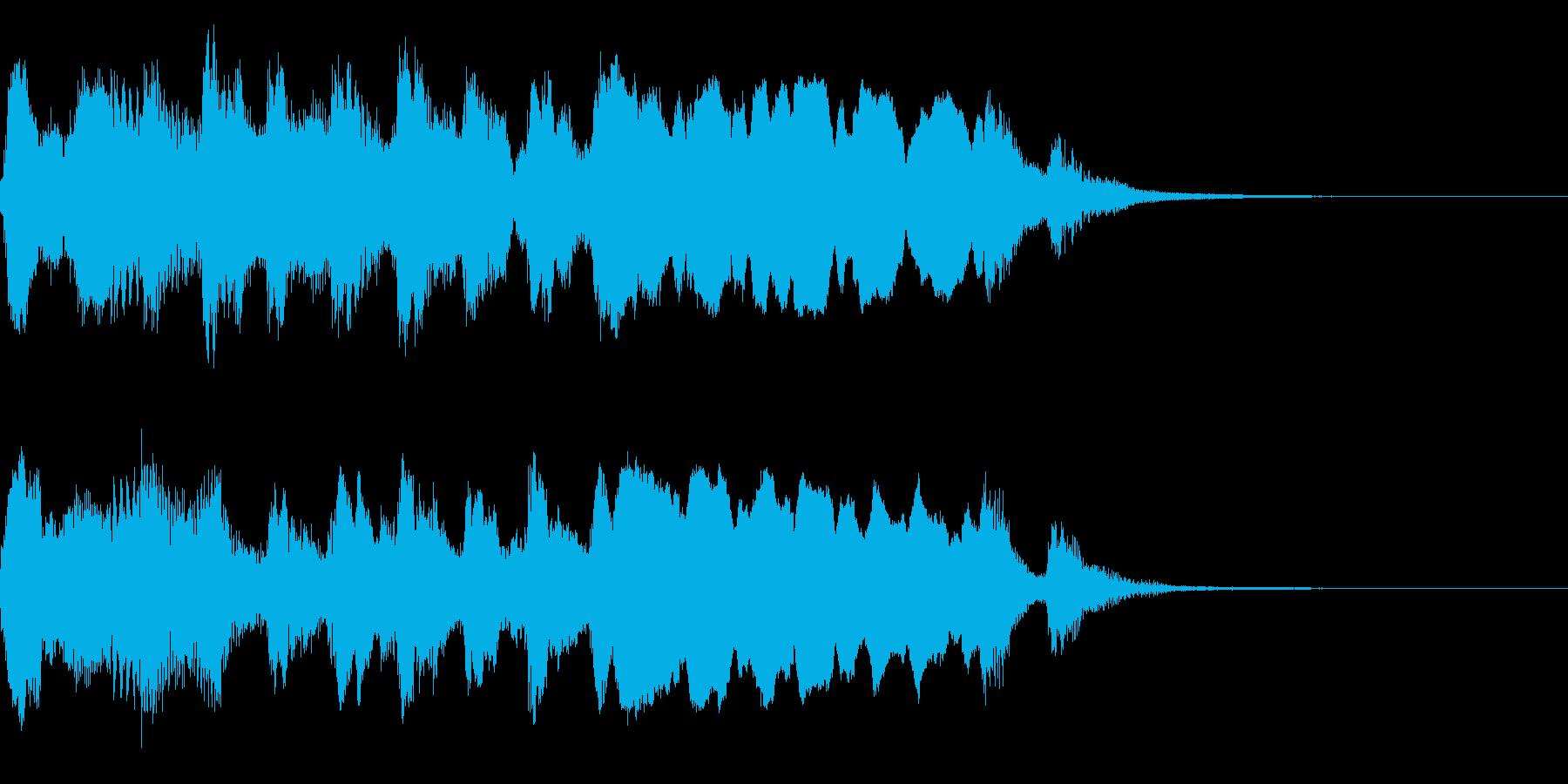 ほのぼのアニメ風アイキャッチ(ワルツ)の再生済みの波形