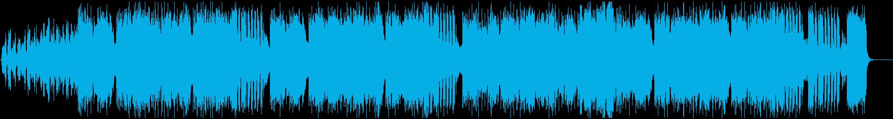 おばけやハロウィンを感じる雰囲気のBGMの再生済みの波形