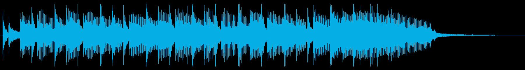 爽やかなオープニングジングルの再生済みの波形