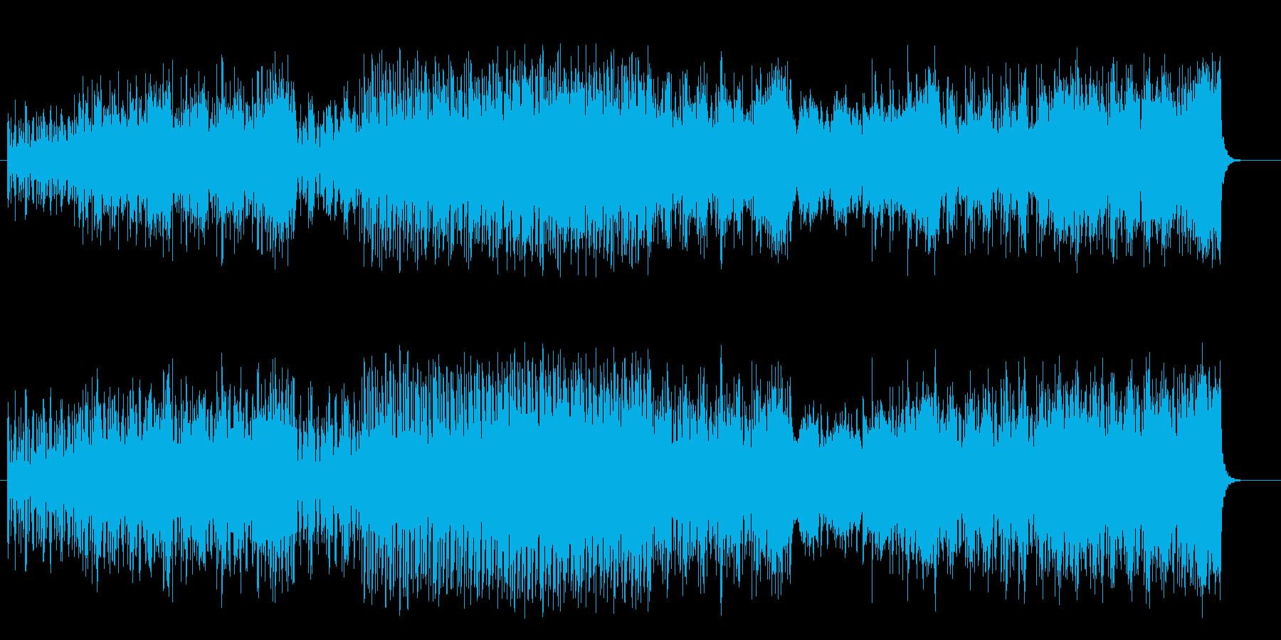 サスペンスが展開するマイナーフュージョンの再生済みの波形