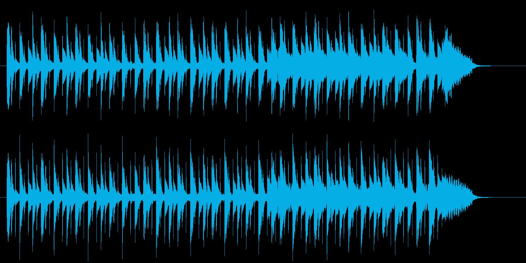 和やかでかわいらしい音楽の再生済みの波形