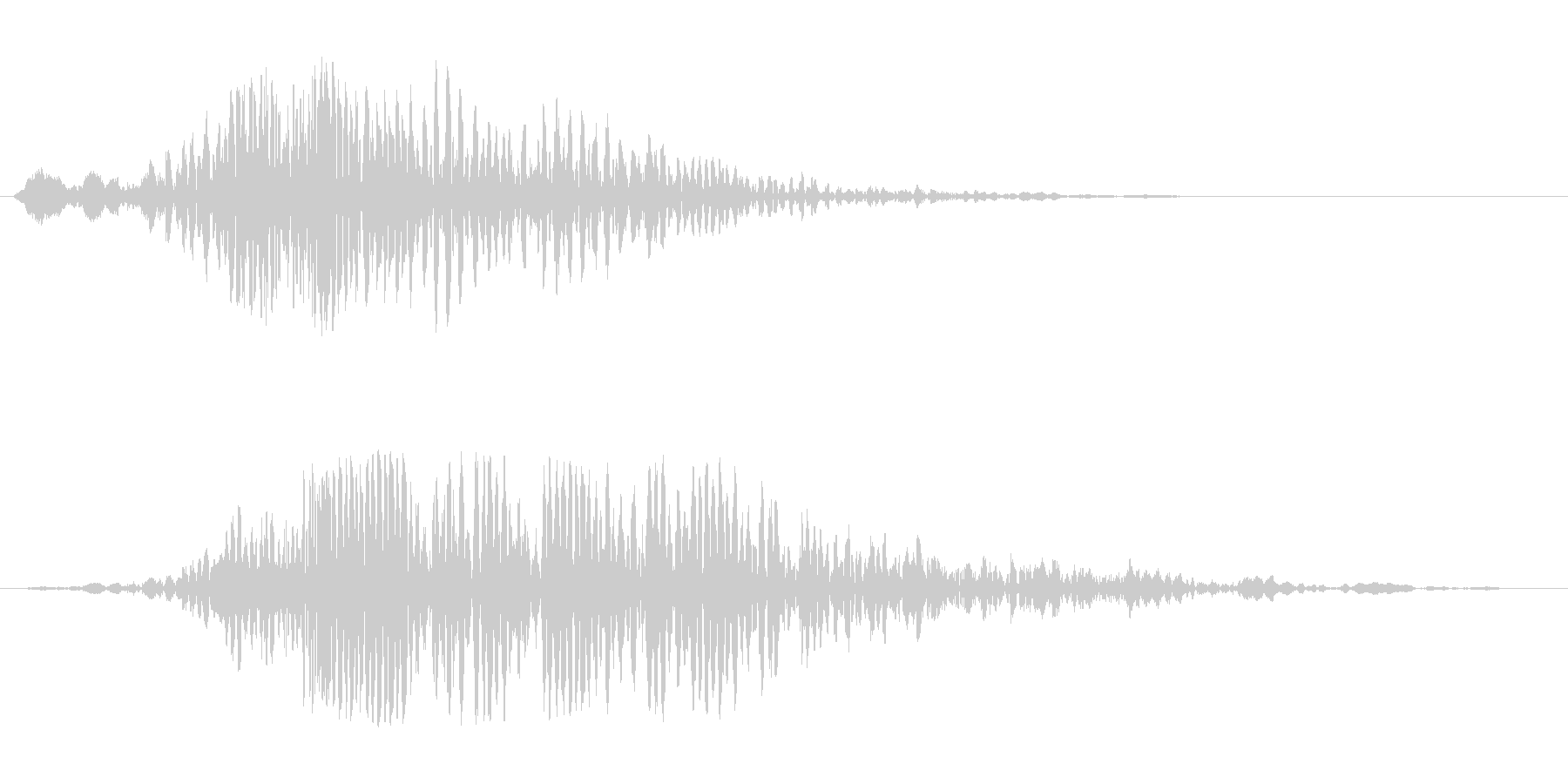 ガガガーキラン(重みのある音→輝く音)の未再生の波形