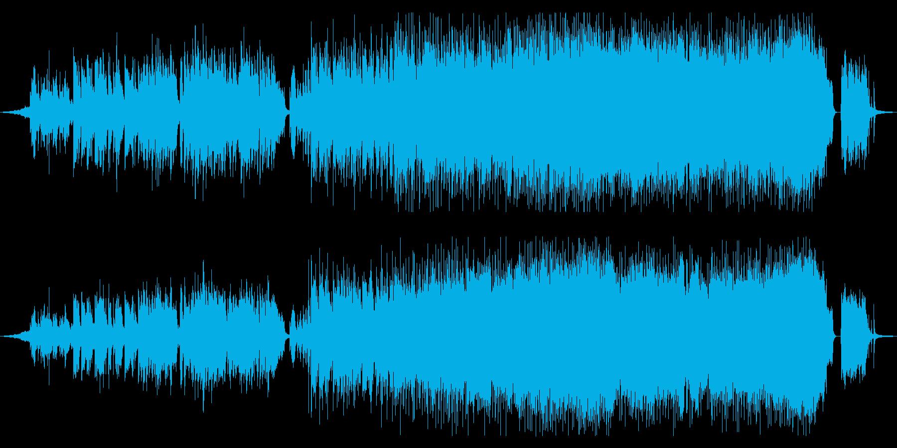 女性ボーカルの定番的ロックバラードの再生済みの波形