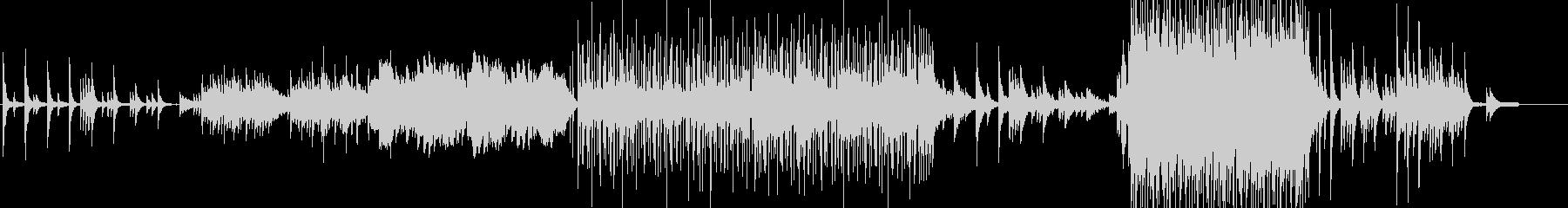 ピアノとフルートを中心としたヒーリングの未再生の波形