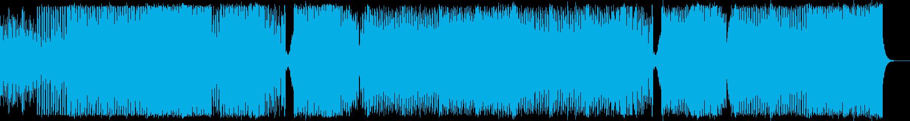 EDM風トラックの再生済みの波形