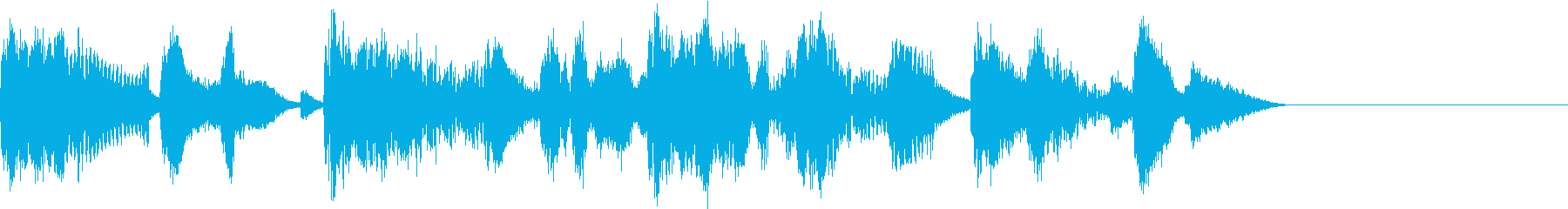 場面転換のジングルの再生済みの波形