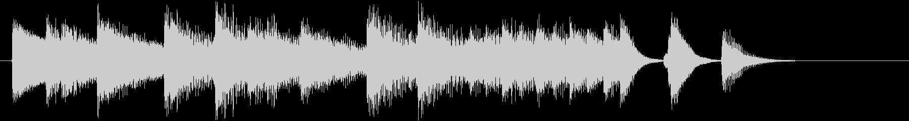 オシャレなジャズの春らしいピアノジングルの未再生の波形