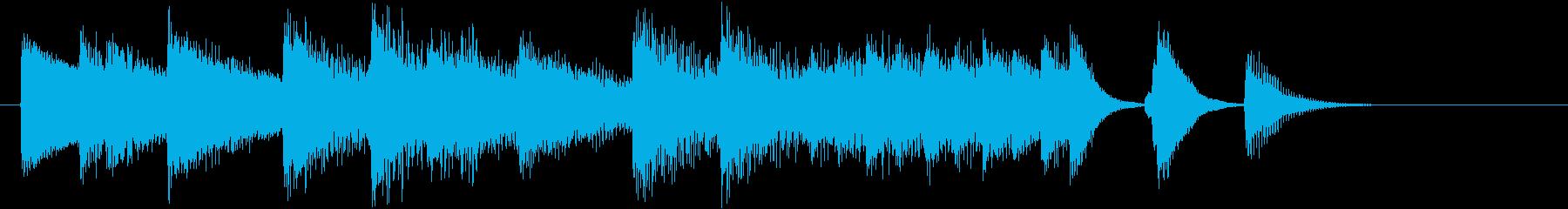 オシャレなジャズの春らしいピアノジングルの再生済みの波形