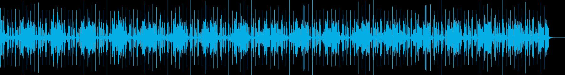 無機質なエレクトロサウンドの再生済みの波形