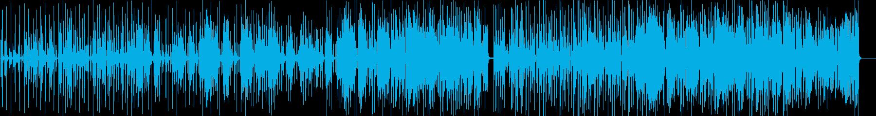 ゆったりとしたおしゃれなジャズの再生済みの波形