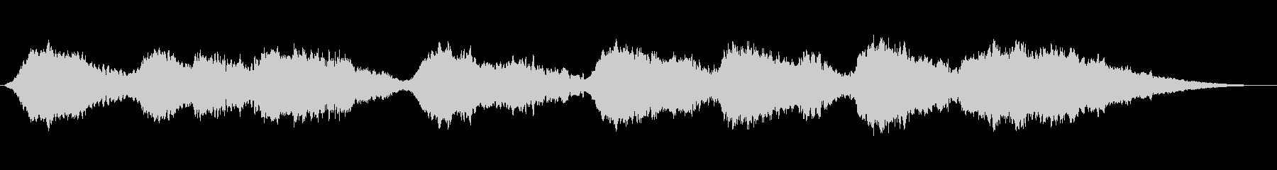 ヒーリングミュージックです。の未再生の波形