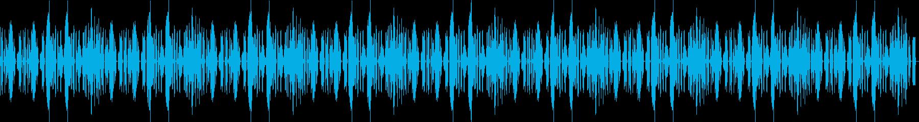かわいいリコーダーの、のんびりな曲の再生済みの波形
