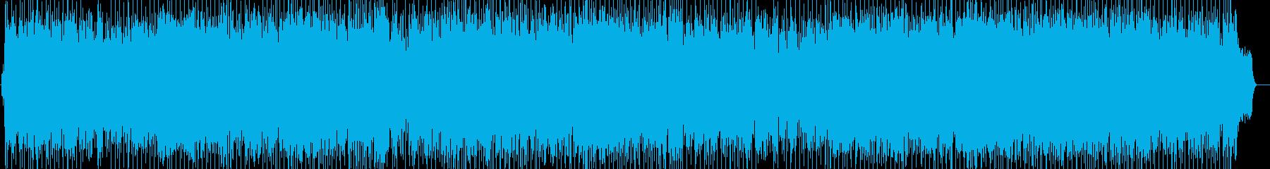 明るい、楽しい、情報、わくわくの再生済みの波形