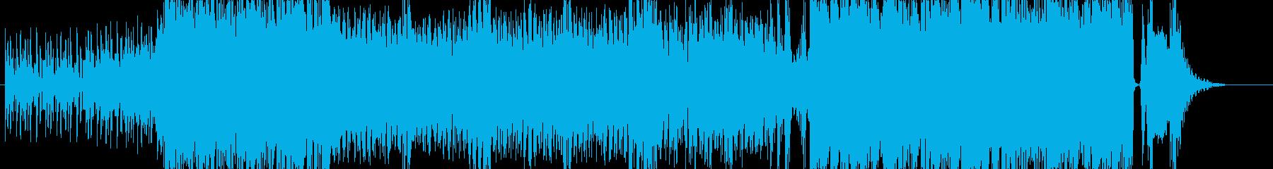 トランス要素を加えたエレクトロなロックの再生済みの波形