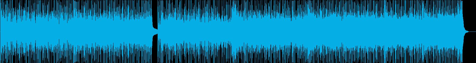 華やかで盛り上がるピアノ&ドラムの再生済みの波形