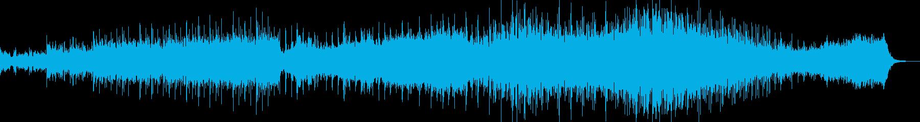 コーラスによる背景的音楽の再生済みの波形