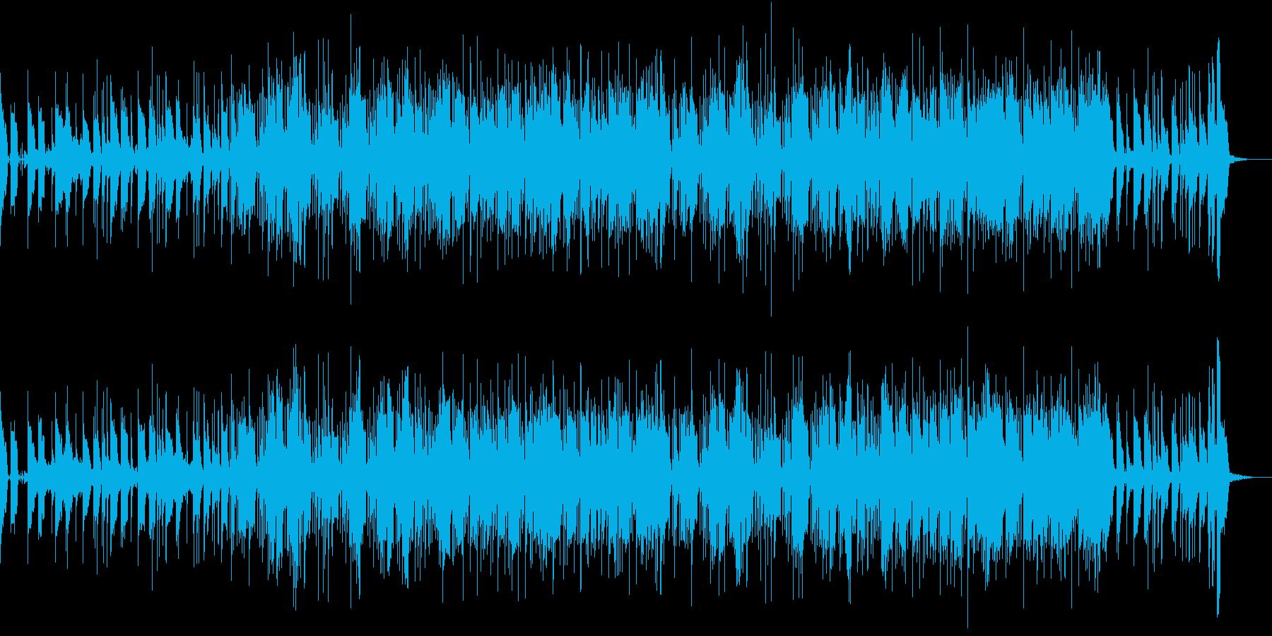 重たいベースとミステリアスシンセリードの再生済みの波形