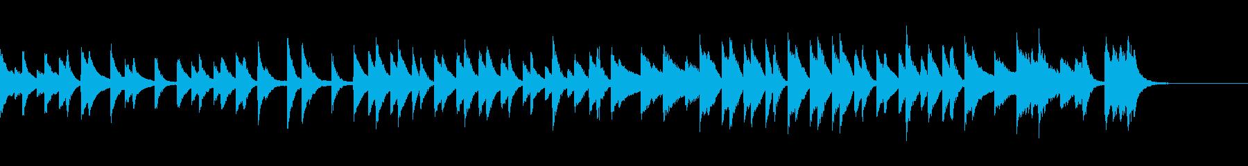 のんびりでウキウキするピアノジングルの再生済みの波形