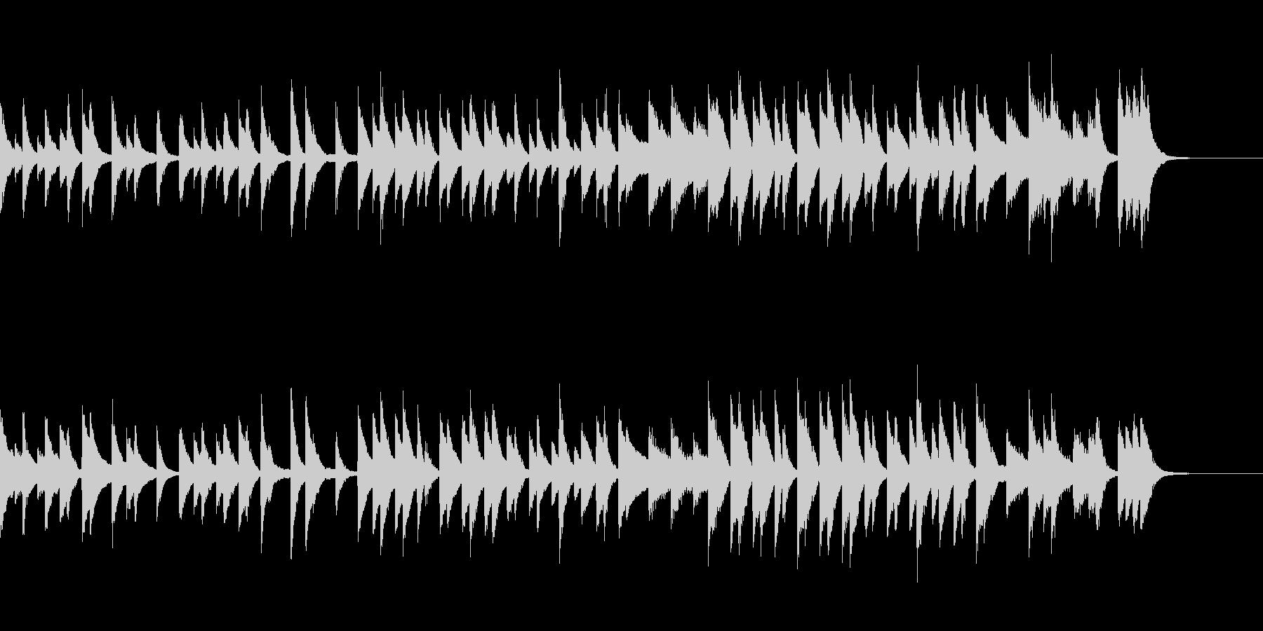 のんびりでウキウキするピアノジングルの未再生の波形