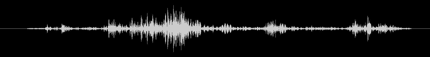 ガチャ(鍵でロック解除)の未再生の波形