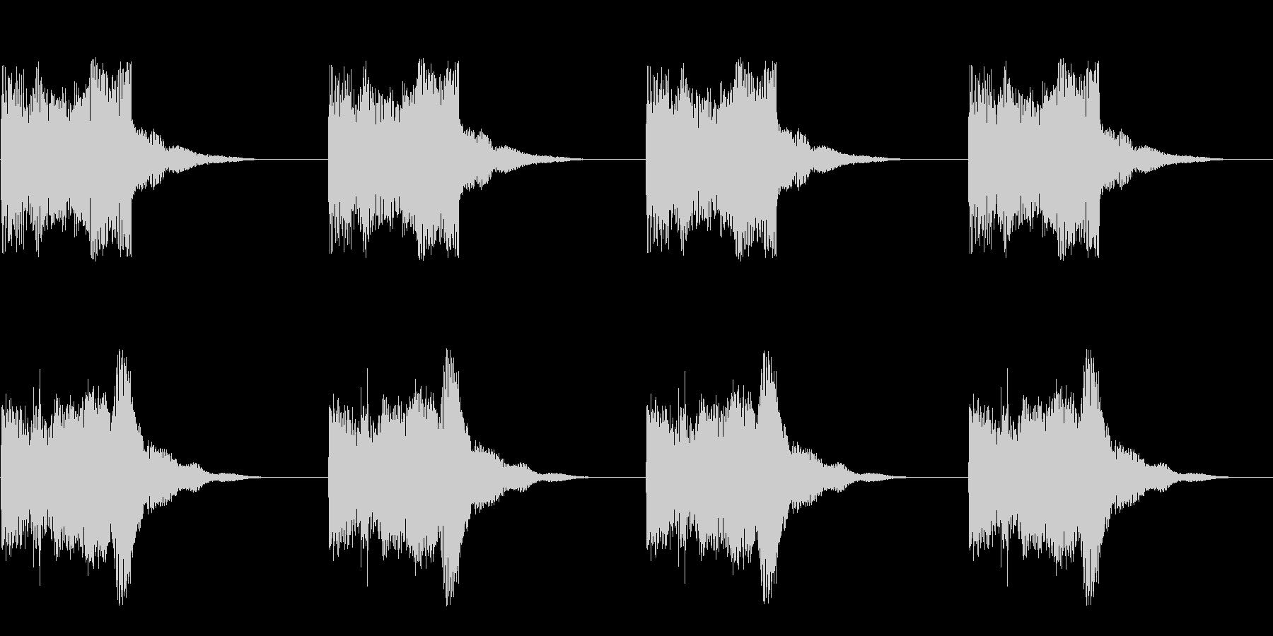 ビー ビー ビー ビー(アラーム)の未再生の波形