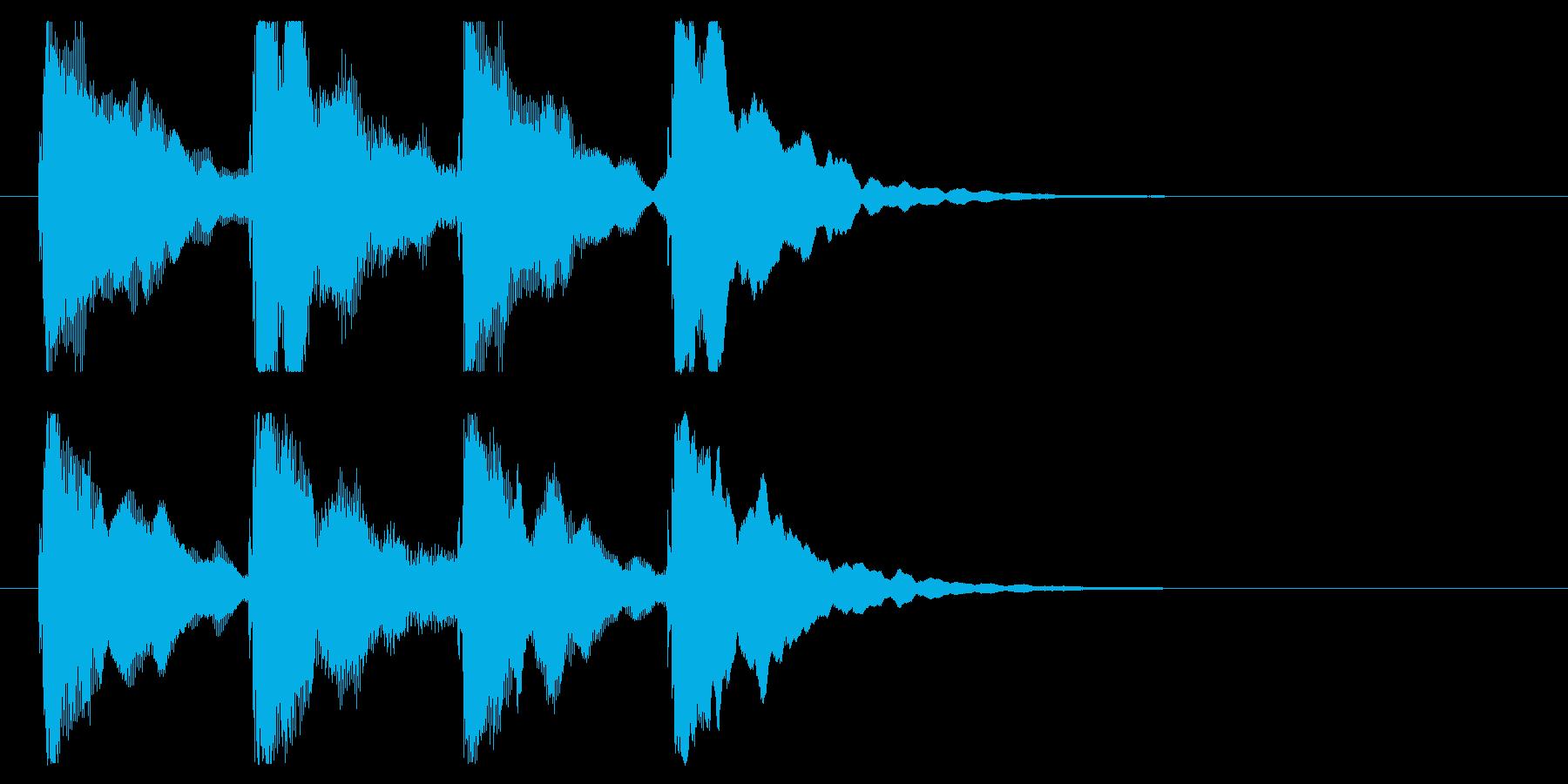 ゴージャスなピンポンパンポン、開始用の再生済みの波形