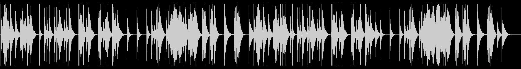 静かで落ち着いた料亭の琴の未再生の波形