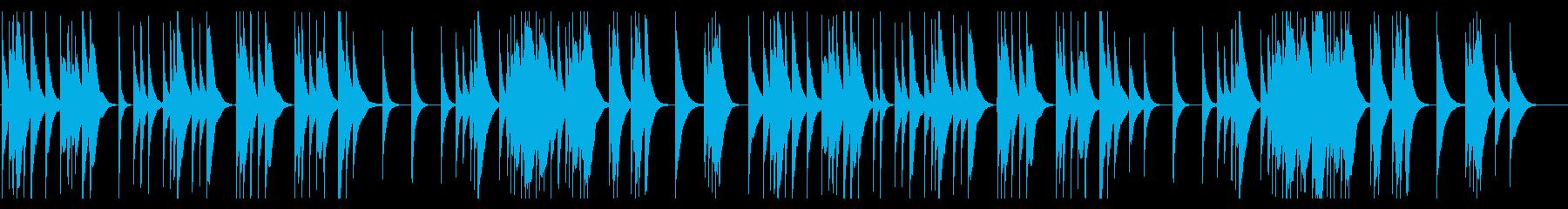 静かで落ち着いた料亭の琴の再生済みの波形