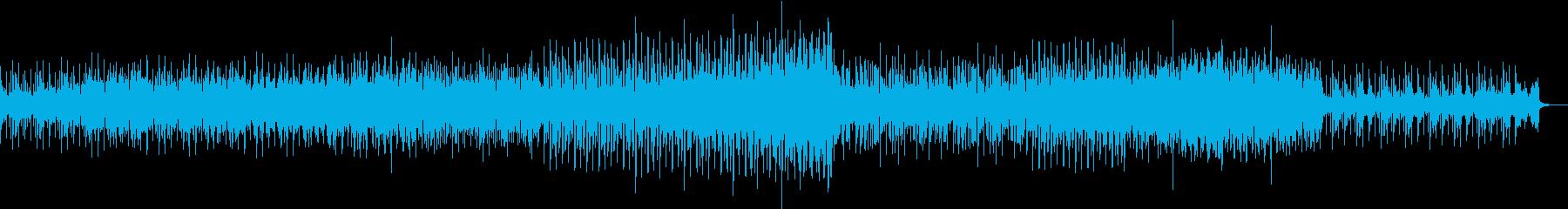重厚なSynとSEQの緊迫感のある曲の再生済みの波形