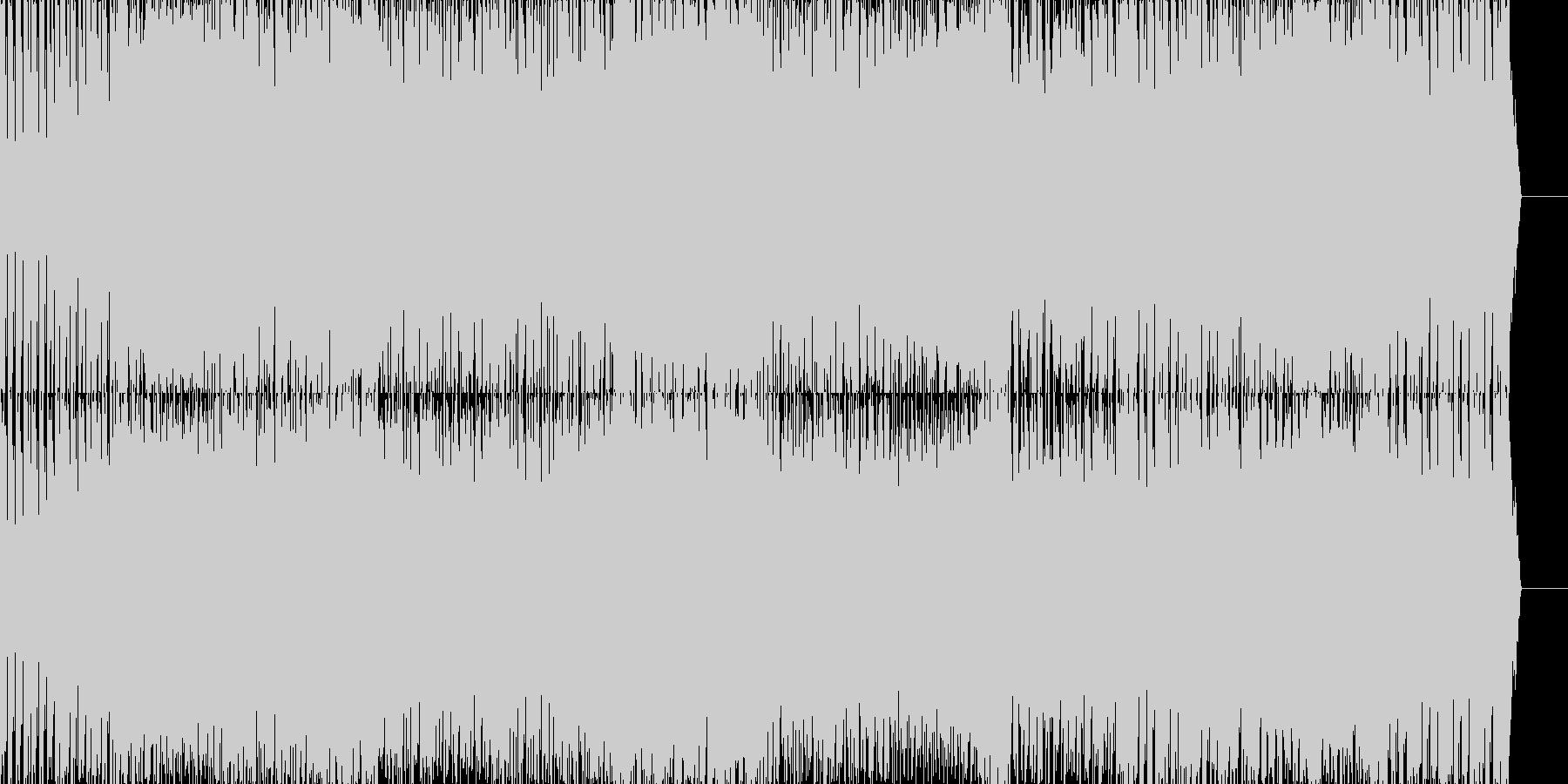 激しいテクノ・ハウス刺激的なオープニングの未再生の波形