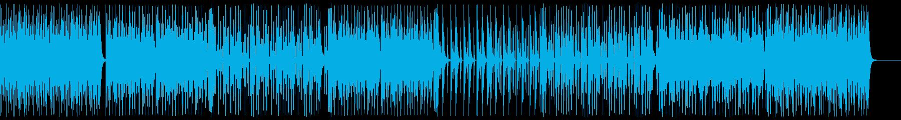 コミカルでポップなテクノシンセサウンドの再生済みの波形