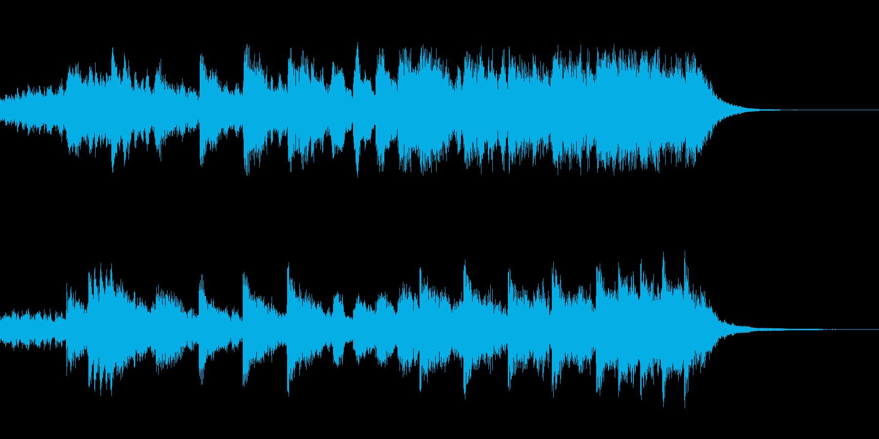 和風エレガントな弦楽器とピアノの再生済みの波形