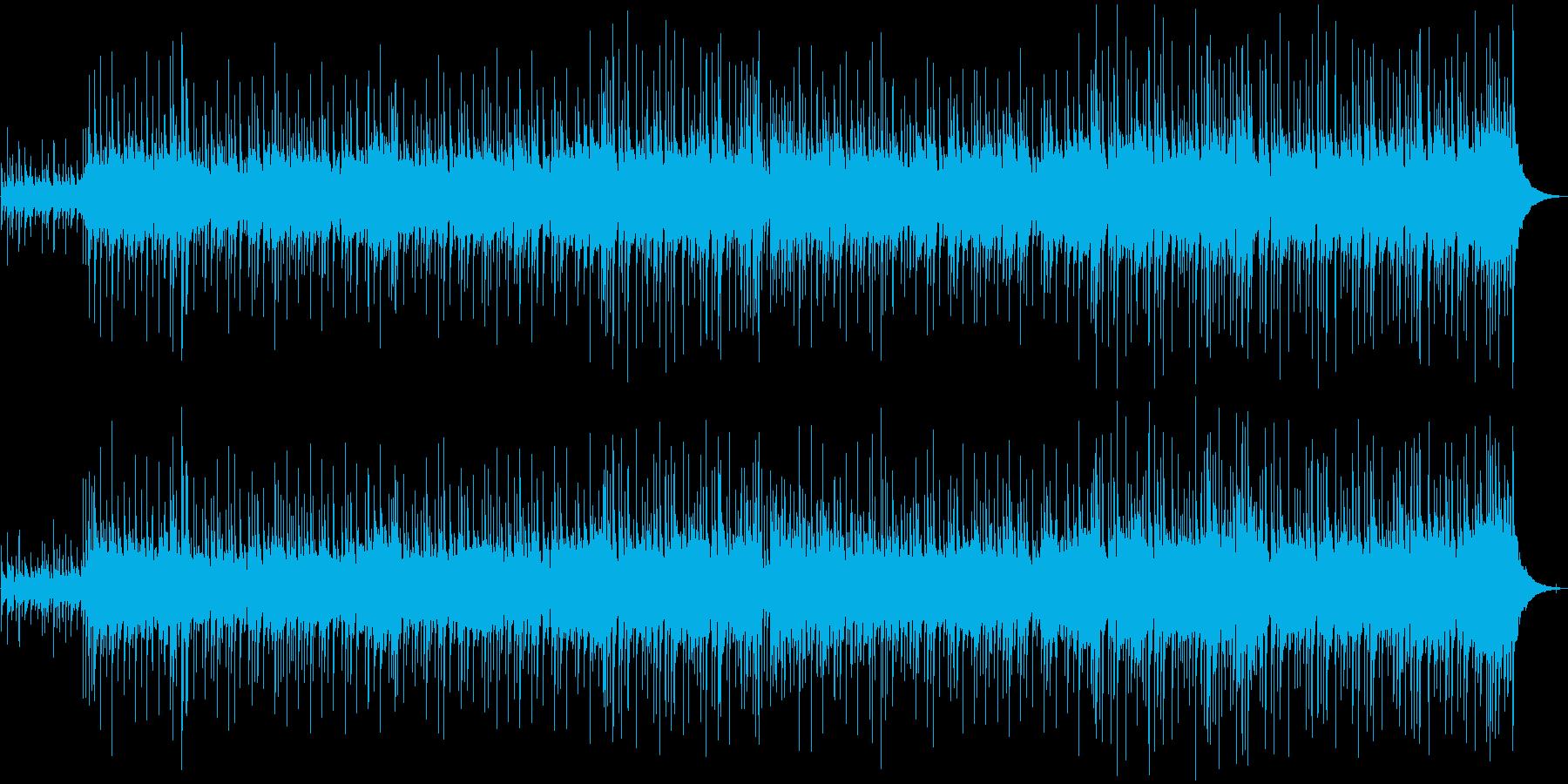 軽快で優しいアコースティックBGMの再生済みの波形