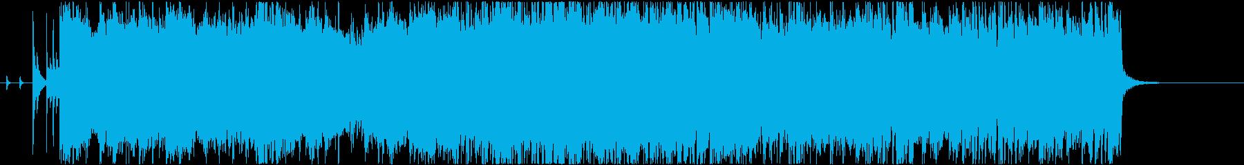ハードロック/エレキギター/オープニングの再生済みの波形