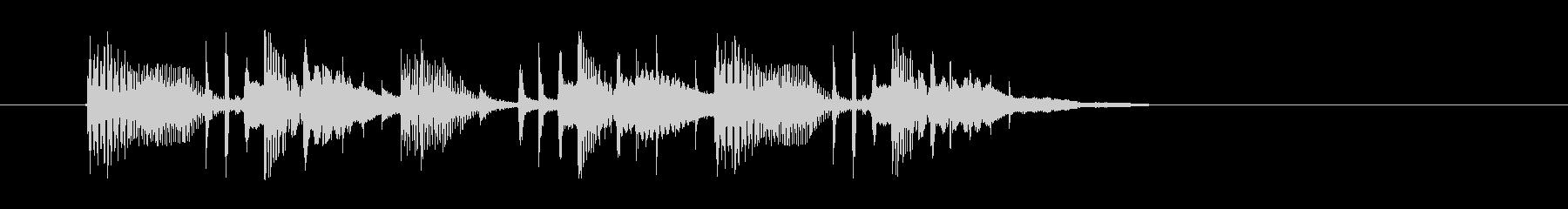 ゆったりと落ち着いた幻想的な音楽の未再生の波形