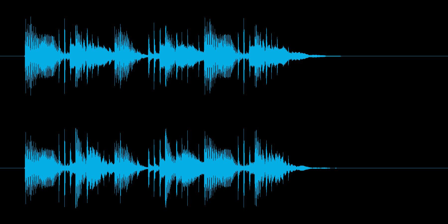 ゆったりと落ち着いた幻想的な音楽の再生済みの波形