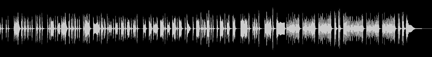 フラフラした日常の会話シーンでの音楽の未再生の波形