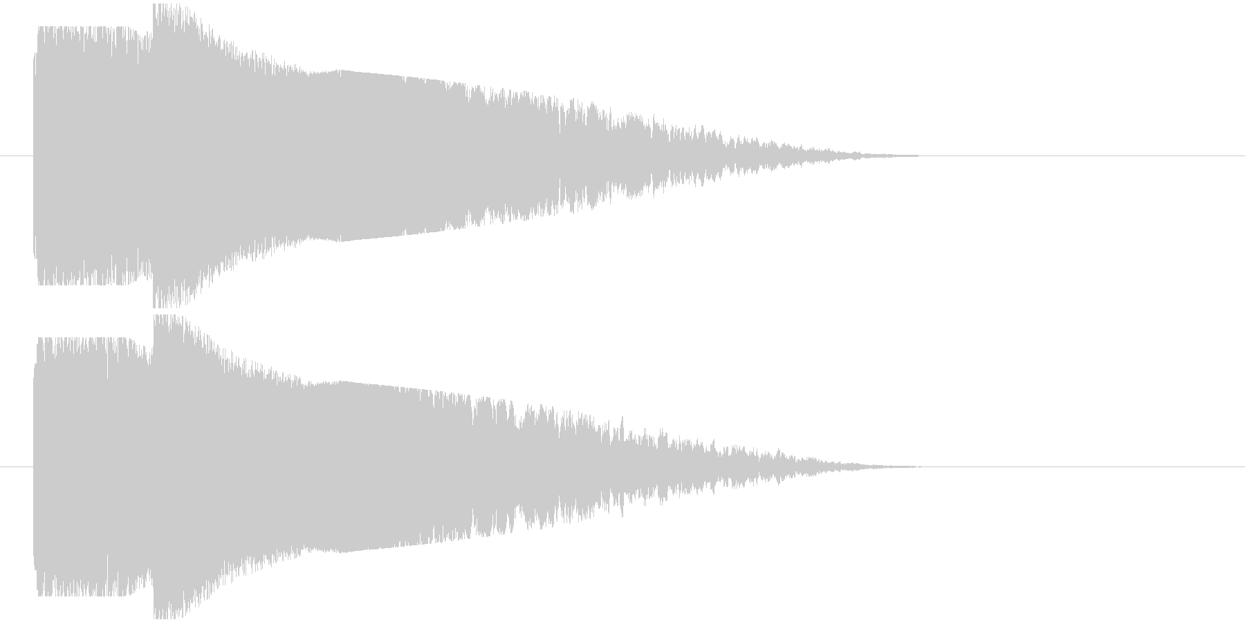 インパクト光り系の未再生の波形