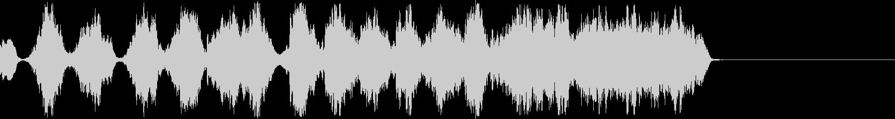 機械的な恐怖音の未再生の波形