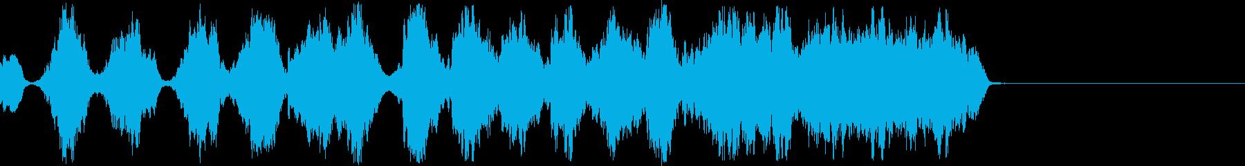 機械的な恐怖音の再生済みの波形