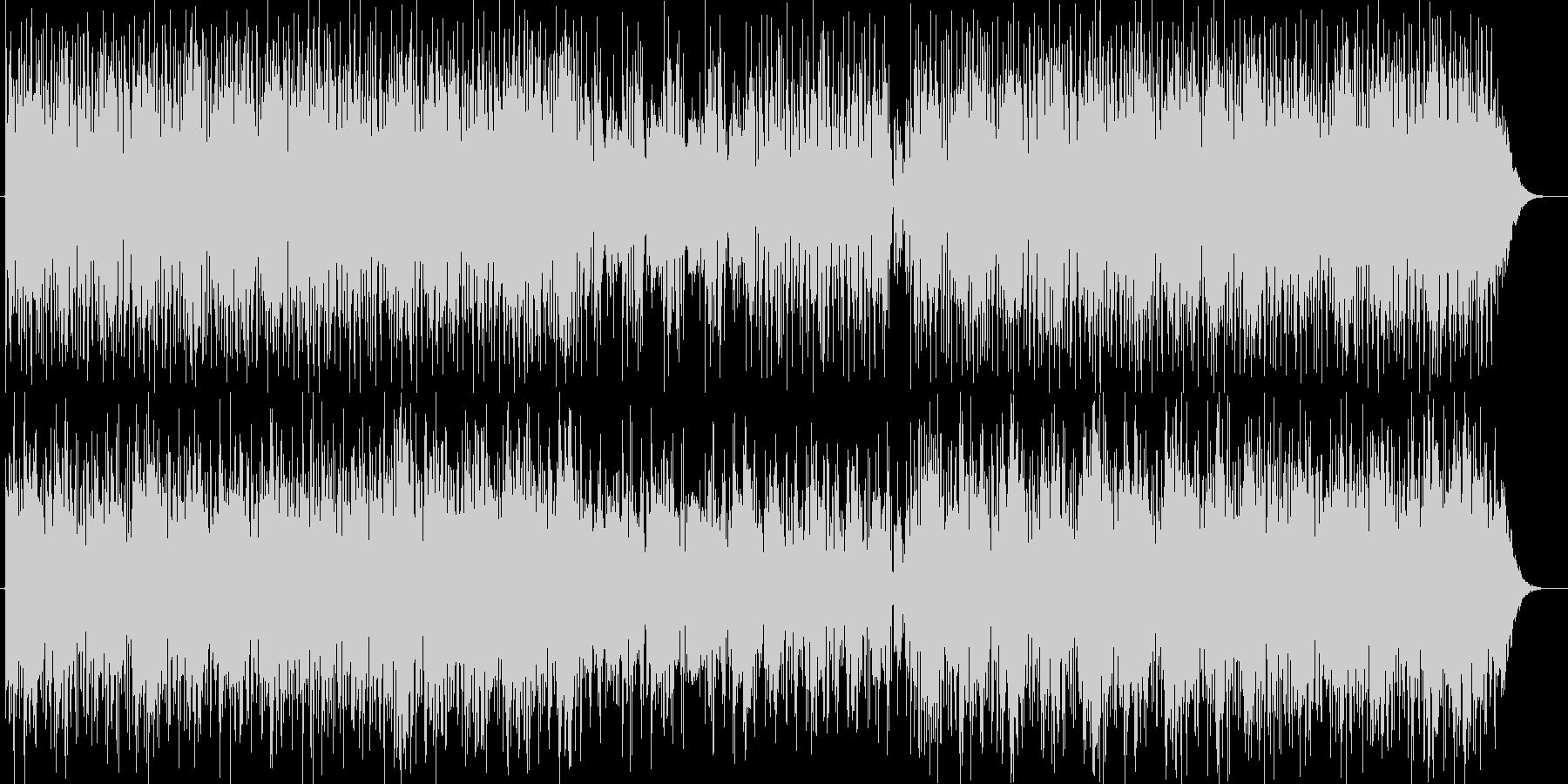 疾走感がありクールなテクノミュージックの未再生の波形