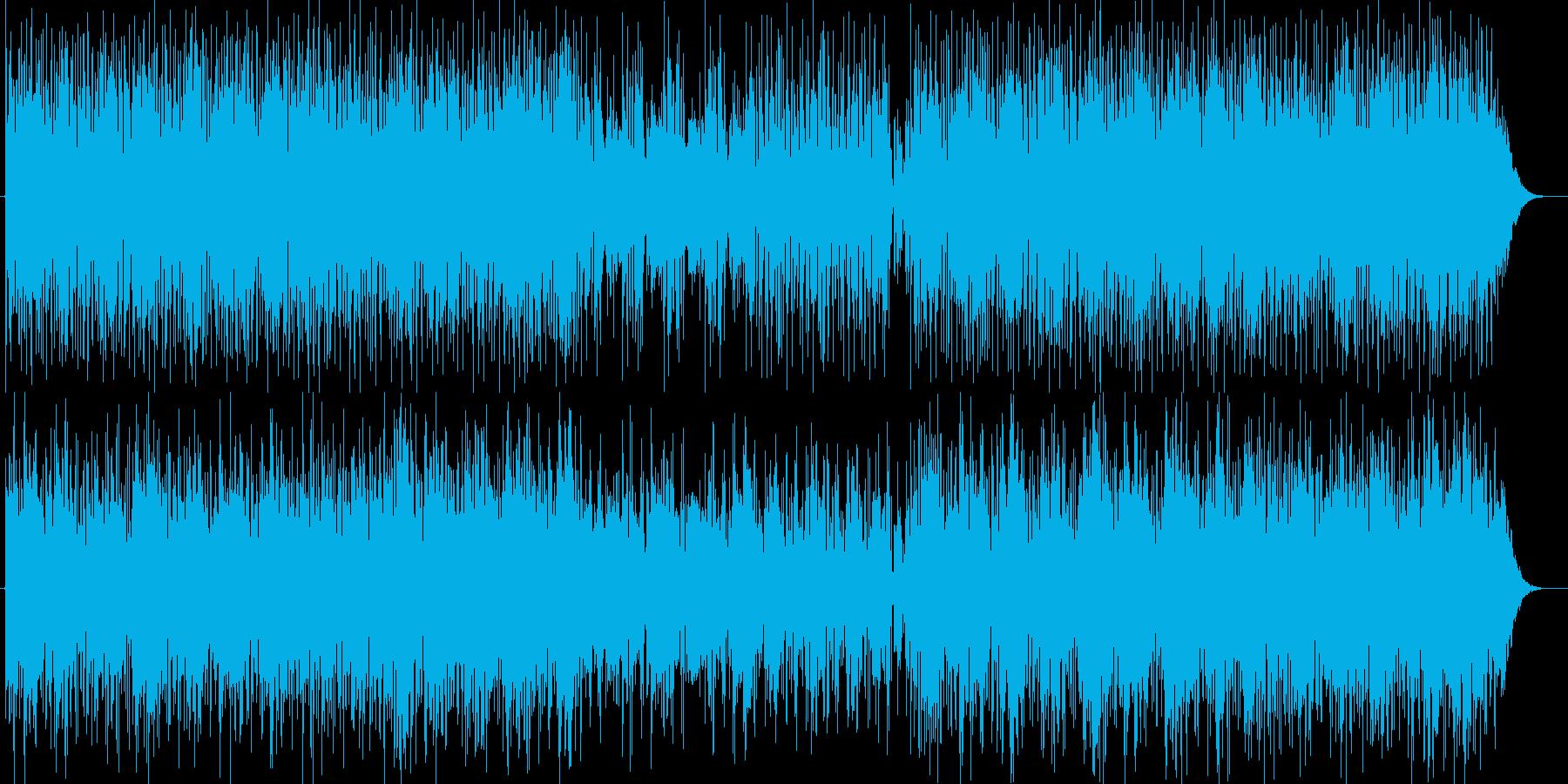 疾走感がありクールなテクノミュージックの再生済みの波形
