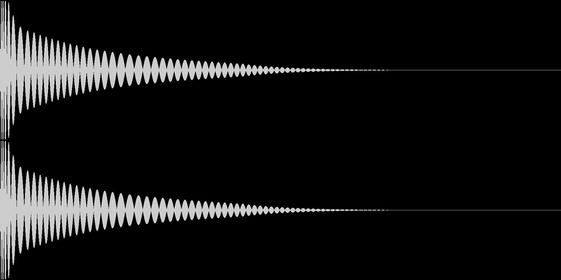 DTM Kick 66 オリジナル音源の未再生の波形